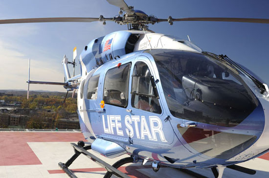 The rooftop helipad provides for immediate transfer of patients to Emergency & Trauma.