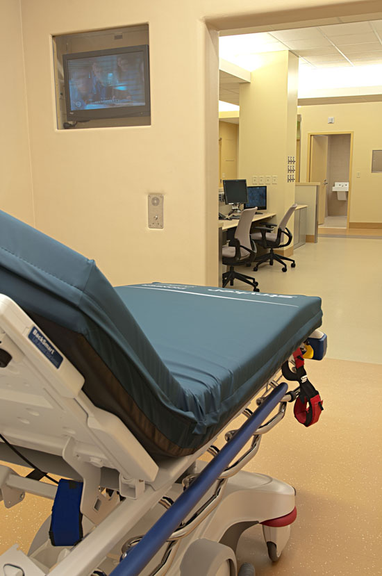 A dedicated Behavioral Health suite includes nine private treatment rooms for the evaluation of psychiatric crisis patients.